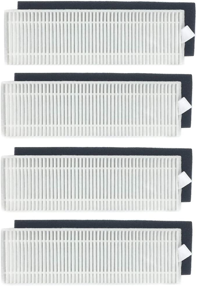 Graysky 4Pcs Efficiency Replacement Filter Accessories with 4Pcs Filter Cotton for ILIFE A9 A7 Sweeper Robot Vacuum Cleaner
