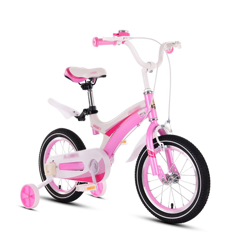 子供の自転車Boy Girl Baby Childバイクペダル自転車3 – 10年古い12 14 16 18インチピンク B07DYFVXCD 16 inch|Spoke wheel Spoke wheel 16 inch