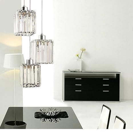Lámpara colgante led clásica de cristal con un diseño ...