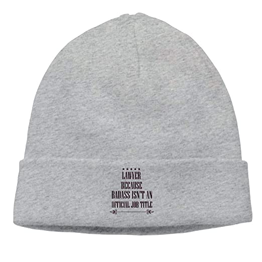 Lawyer Because Bass Isn t an Official Job Title Beanie Hat Winter Warm Knit  Skull 3152efa82bd