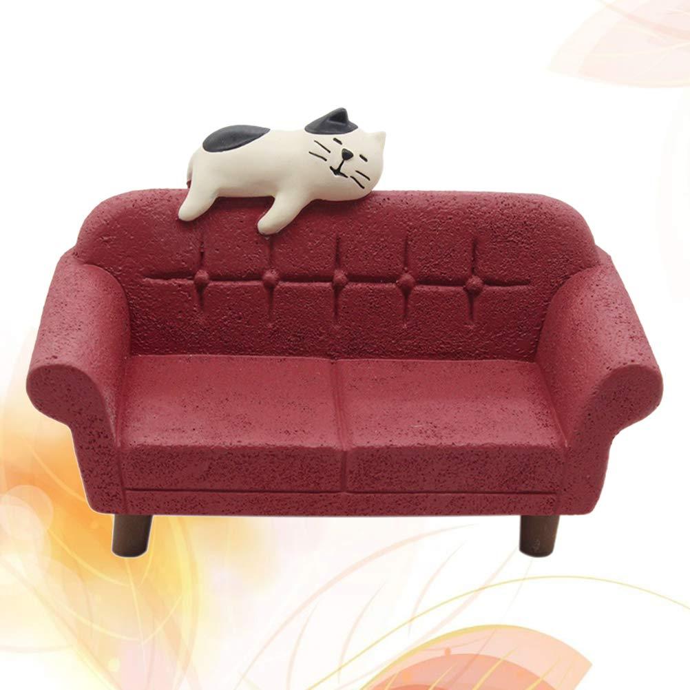 Vosarea Casa de muñecas en Miniatura Sofá Sofá Muebles de ...