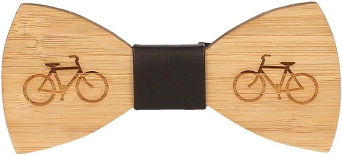 Snobbop Pajarita Woody bicicleta bambú madera cierre de gancho ...