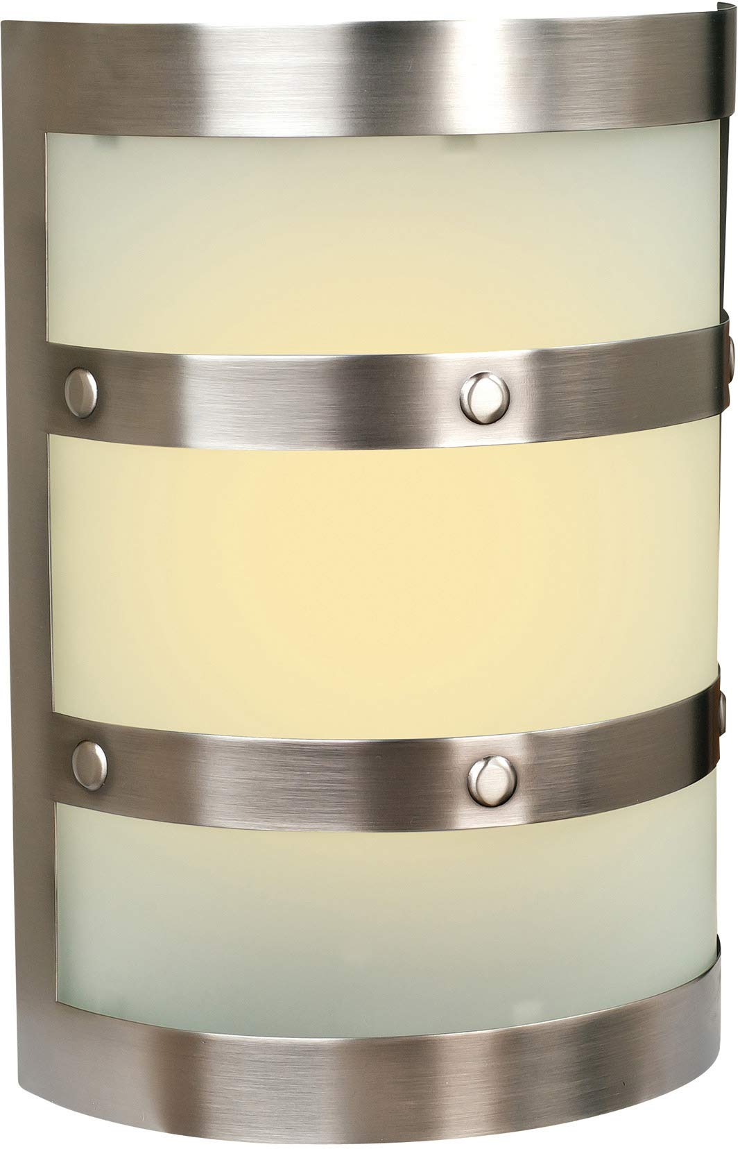 Craftmade ICH1405-PT Illuminated Chime System Half Cylinder Lighted LED Door Chime, Pewter (9.5''H x 6.75''W)