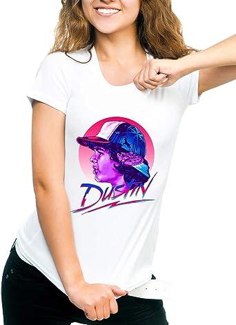 Camiseta Stranger Things Niña, Camiseta Stranger Things Temporada 3 Stranger Things Mujer Impresión Ringer T-Shirt Abecedario Camiseta Camisa de Verano Regalo Camisetas y Tops: Amazon.es: Ropa y accesorios