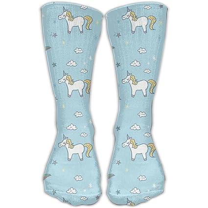 UTBVJDLP Calcetines de algodón con estampado de unicornios