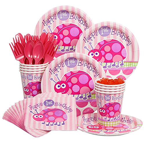[Costume Supercenter BB101197 First Birthday Ladybug Economy Box Serves 8 Guests] (White Theme Party Costumes Ideas)