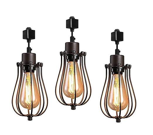 Amazon Com Kiven H Type Track Lighting Mini Vintage Edison Hanging