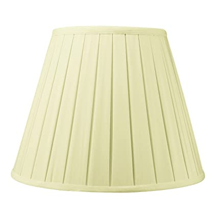 8x14x11 eggshell empire box pleat lampshade with brass spider fitter 8x14x11 eggshell empire box pleat lampshade with brass spider fitter by home concept perfect for aloadofball Images