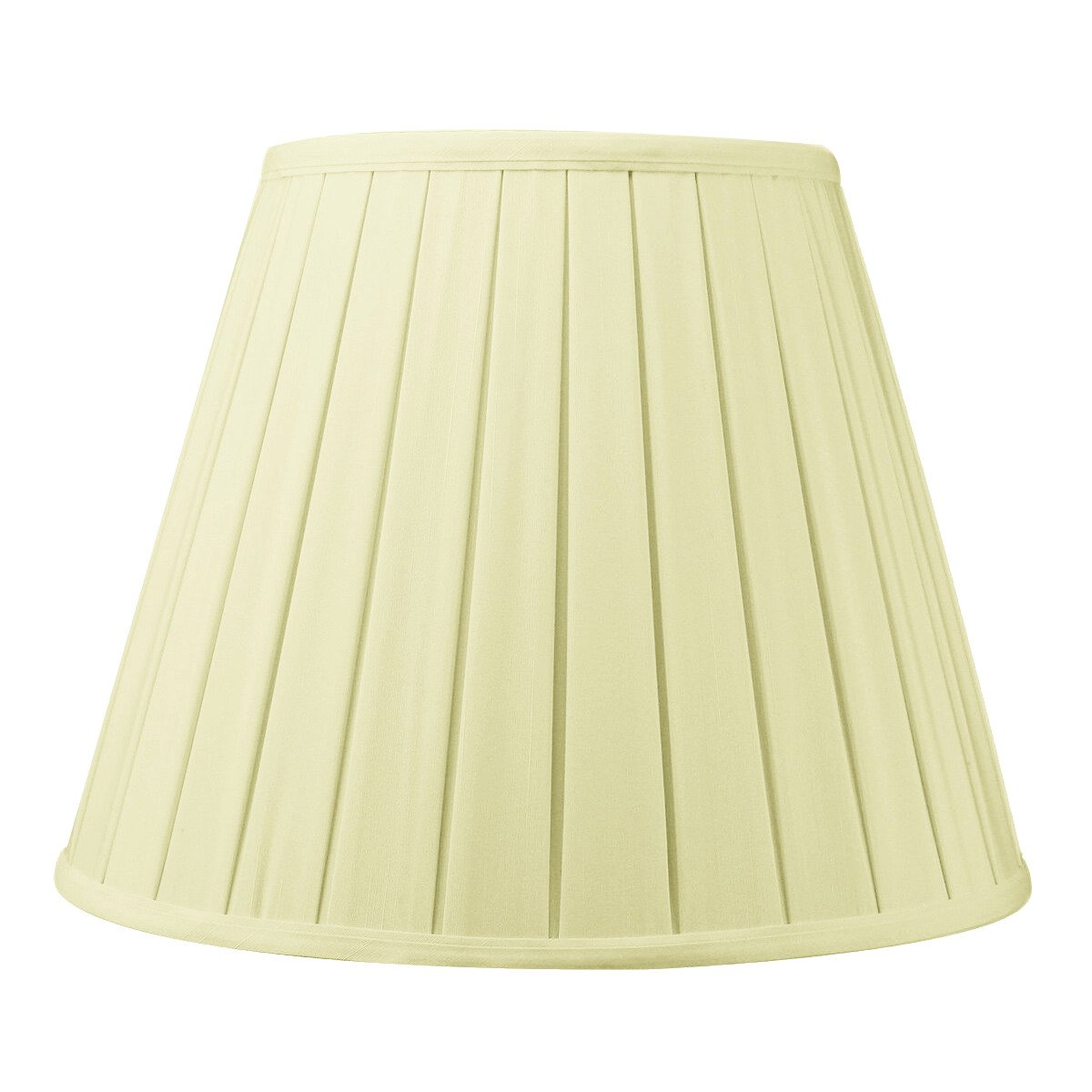 8x14x11 Eggshell Empire Box Pleat Lampshade with Brass Spider fitter By Home Concept - Perfect for table lamps and some desk lamps -Medium, Egg Shell