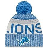 Detroit Lions New Era 2017 NFL Sideline On Field Sport Knit Hat - Blue
