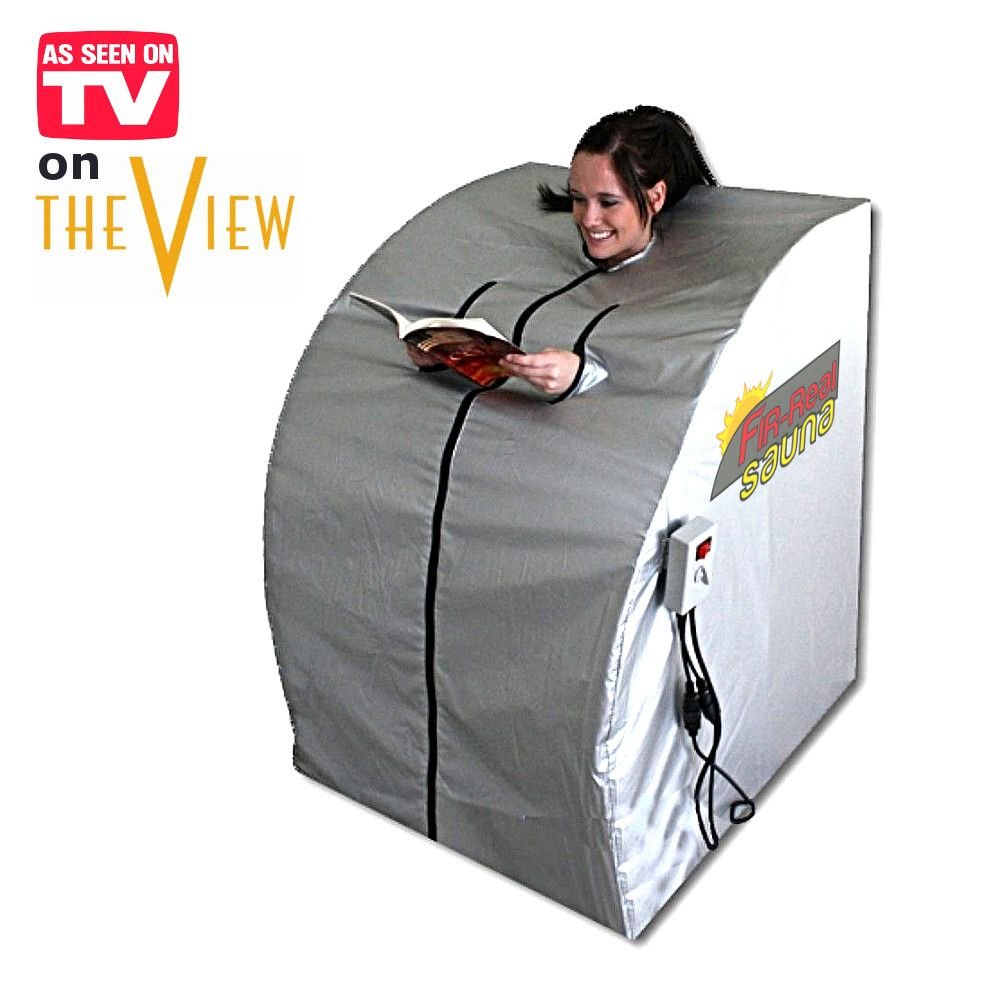 FIR-Real Portable Far Infrared Sauna (Large) with Two Ceramic Heaters HEALTHandMED