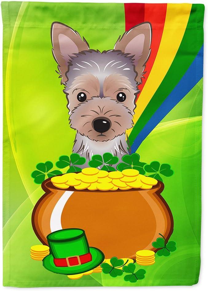 Caroline's Treasures BB1976GF Yorkie Puppy St. Patrick's Day Flag Garden Size, Small, Multicolor