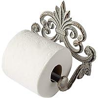 Comfify Fleur De Lis Gietijzeren Toiletpapierrolhouder - Gietijzeren Wandmontagetoilethouder - Europees Vintage Design…
