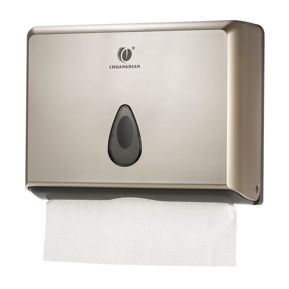 BBX Lephsnt CHUANGDIAN Wall-Mounted Bathroom Paper Towel Dispenser (Champagne Gold)
