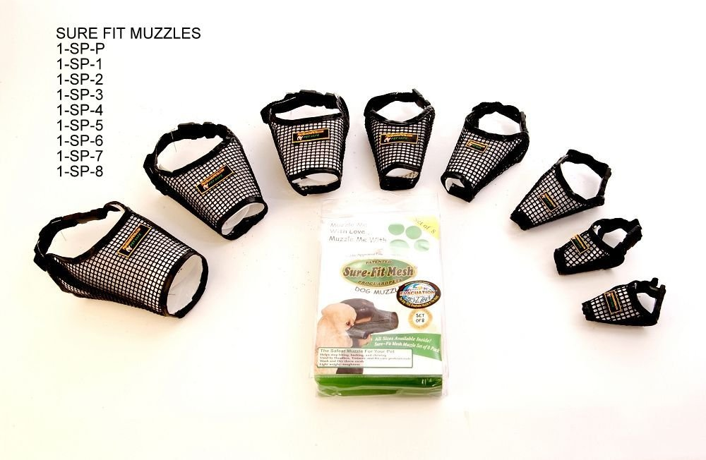 Sure-Fit Dog Muzzle ~Size 2~ X Small by Proguard Pets