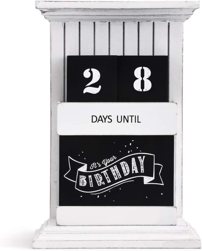 Redrock Traditions Countdown to Everything Chalkboard Look 9.5 x 6.5 Distressed Wooden Table Top Calendar