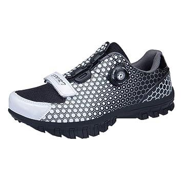Shoes Zapatos de MTB, Hebilla Bicicleta los Hombres del cordón de Zapatos de Acero Que