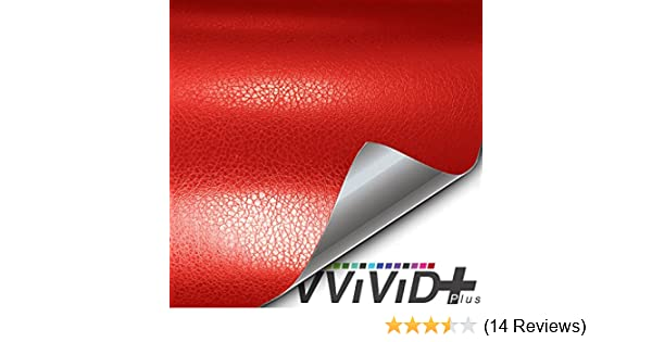 1ft x 5ft VViViD Fine Grain Red Leather Soft Touch Vinyl Wrap Sheet Roll