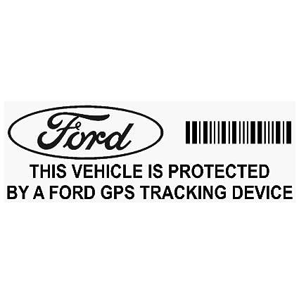 5 x Ford GPS negro dispositivo de seguimiento de seguridad ventana pegatinas 87 x 30 mm