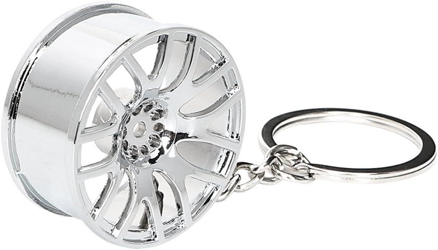 Car Wheel Alloy Keyring Silver Colour TRIXES