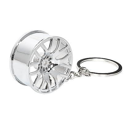 Holdream Llavero de metal para coche, diseño de llanta de ...