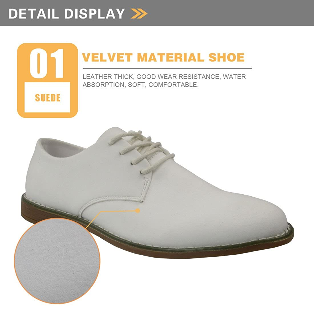 Showudesigns Bright Color Mens Casual Oxford Dress Shoes Leather Suede Flats