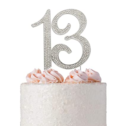 13 Rhinestone Birthday Cake Topper