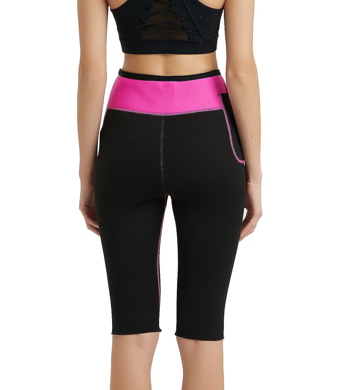 84ac9bf1024 Hanmeimei Women s Slimming Pants Neoprene Lose Weight Fat Burning Sweat  Sauna Capris Leggings Body Shapers at Amazon Women s Clothing store