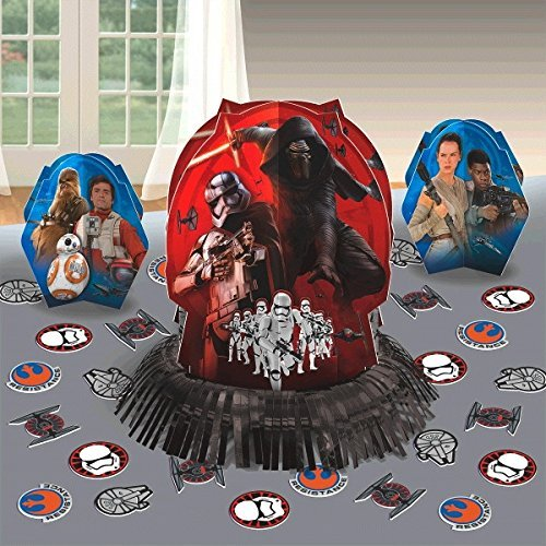 Star Wars The Force Awaken Party Table Decorations Kit ( Centerpiece Kit ) 23 PCS - Kids Birthday and Party Supplies (Star Wars Party Decorations)