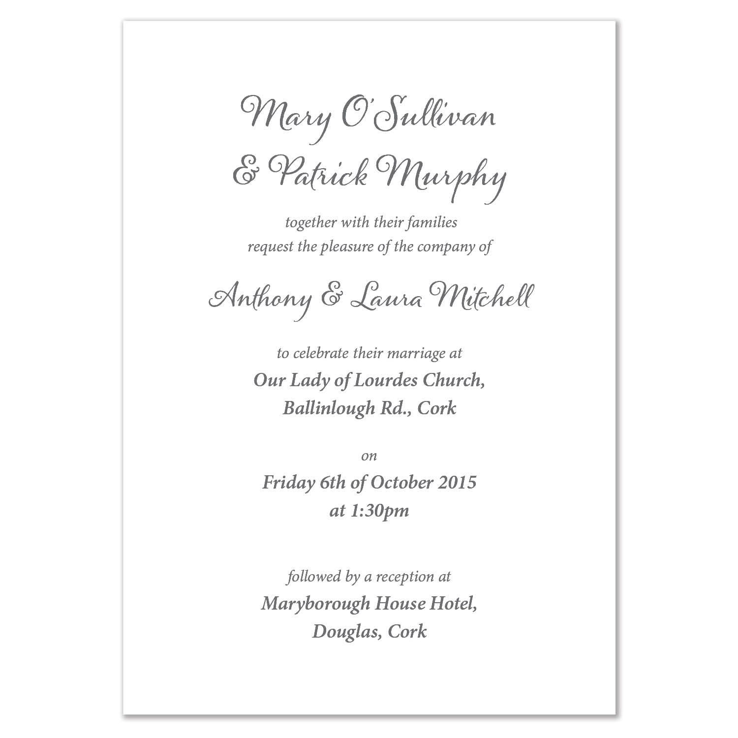 Pack of 50 Personalised Autumn Leaves Wedding Invitations: Amazon.co ...