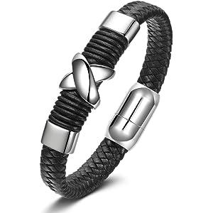 Metal Titanium Steel Black and Silver Notting Hill Dark Knight Mens Bracelet