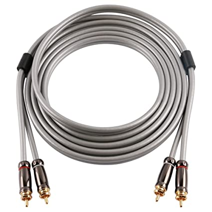 SKW Audiophiles Digital Stereo Audio Cable Coaxial Cable 2RCA Male to 2RCA Male PVC Jacket Y