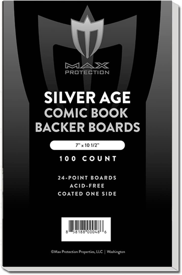 100 Golden Age Comic Book Acid Free Backing Boards white backers Max Pro Pack