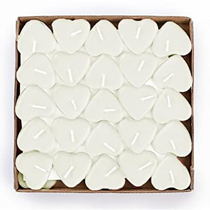 tiean 50pcs heart shaped scented candles romantic love candle bulk for wedding birthday