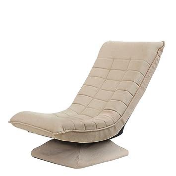 Chaise De Plancher Brunes Avec Support Dos 360 Degres Pivotant Pliable Paresseux Canape