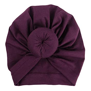 0ed87656b60e82 Image Unavailable. Image not available for. Color: Newborn Cap, Iuhan Baby  Turban Knotted Hat Toddler Kids Cap Boy Girl ...