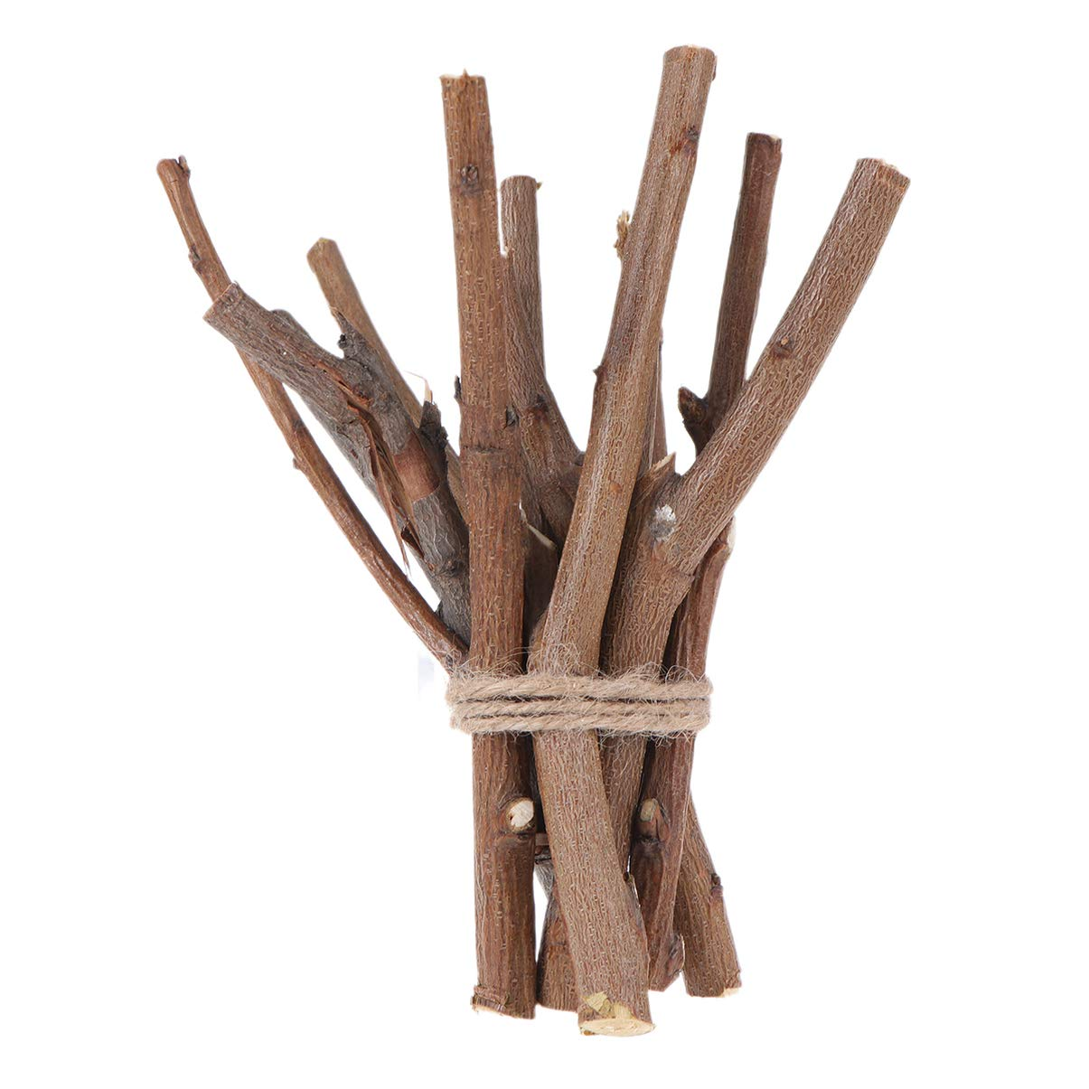 OULII Wood Sticks Log for DIY Crafts Photo Props 4inch Pack of 100