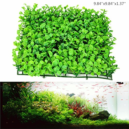 Artificial Aquarium Ornament Aquatic Grass Lawn Turf /Underwater Plastic Green Plant for Home Office Saltwater Freshwater Tropical Fish Tank Decorations