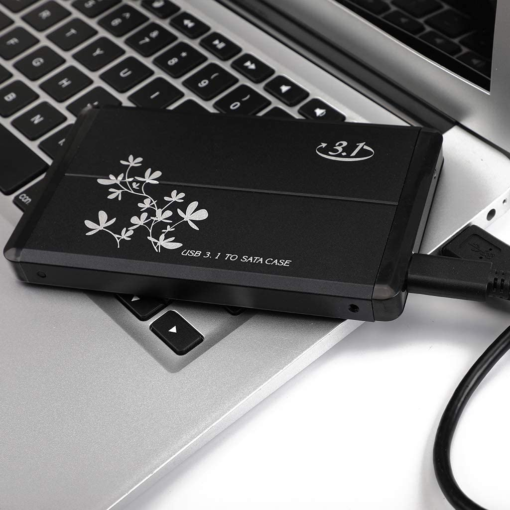 Support SATA III//II//I Tool-Free Design Almencla 160G USB Type C 3.1 2.5-inch External HDD Hard Drive Enclosure Case Optimized for SSD with UASP