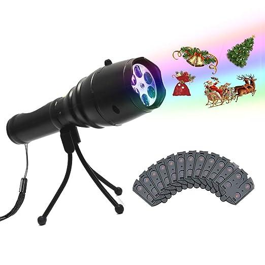 e65fba105be Proyector LED Linterna 12 Diapositivas animadas Computadoras de mano  Recargables Luces de proyección USB Carga con