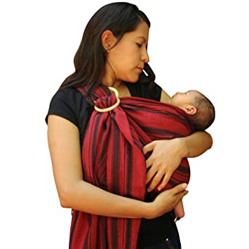 1939aa27656 Amazon.com   Ring Sling Baby Carrier (Red) 100% Cotton Ideal for  breastfeeding or hand free activities   Baby