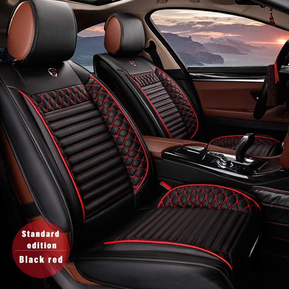 8X-SPEED 5 Cubreasientos de Asientos de Automóvil para Jaguar E-Pace Artificial Cuero Fundas Asientos Delanteros y Traseros Asiento Comodidad Coches,Negro Rojo