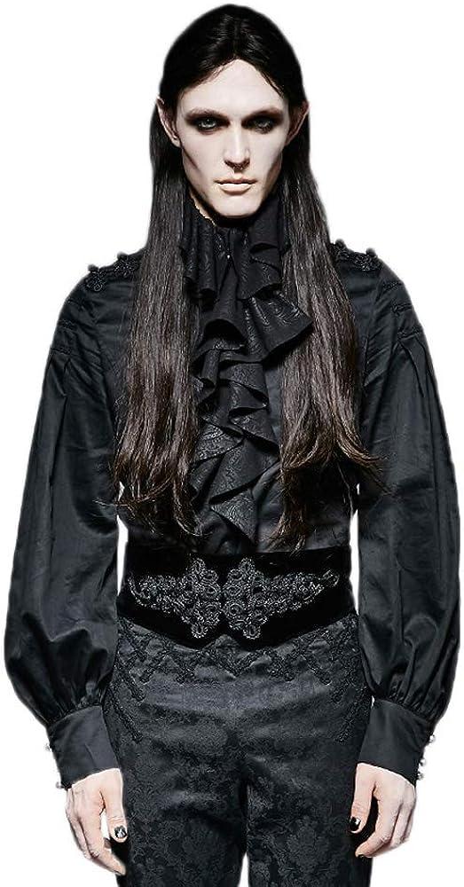 PUNK RAVE Mens Gothic Big Plate Button Corset Aristocratic Temperament Party Evening Velvet Jacquard Girdle