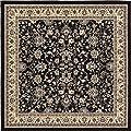 "Unique Loom Kashan Runner Area Rug, 2'2"" x 8'2"", Black-p"