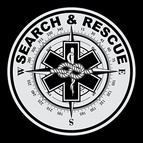 Search & Rescue Small Round Reflective Decal Sticker - Package of 6 by Emergency Mall