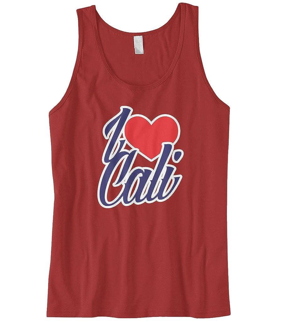 Cybertela Mens I Love Cali California Heart Tank Top