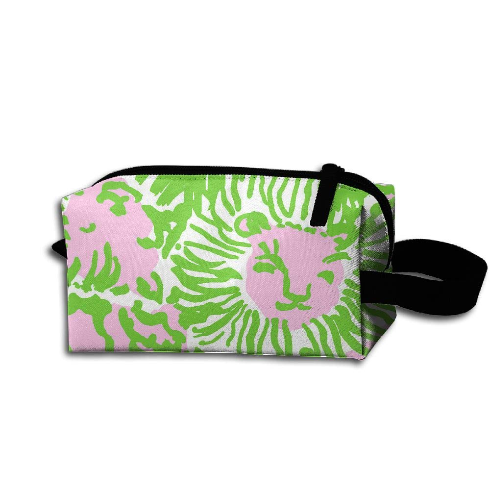 Makeup Cosmetic Bag Artistic Animal Face Medicine Bag Zip Travel Portable Storage Pouch For Mens Womens