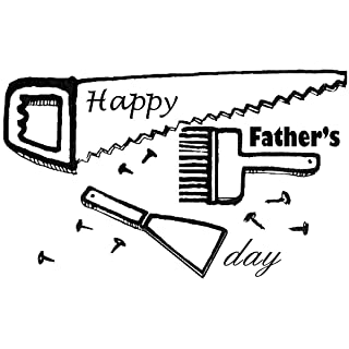 Gourmet Rubber Stamps Cling Stamps 7cm x 4.75-inch-Dad dell' attrezzo
