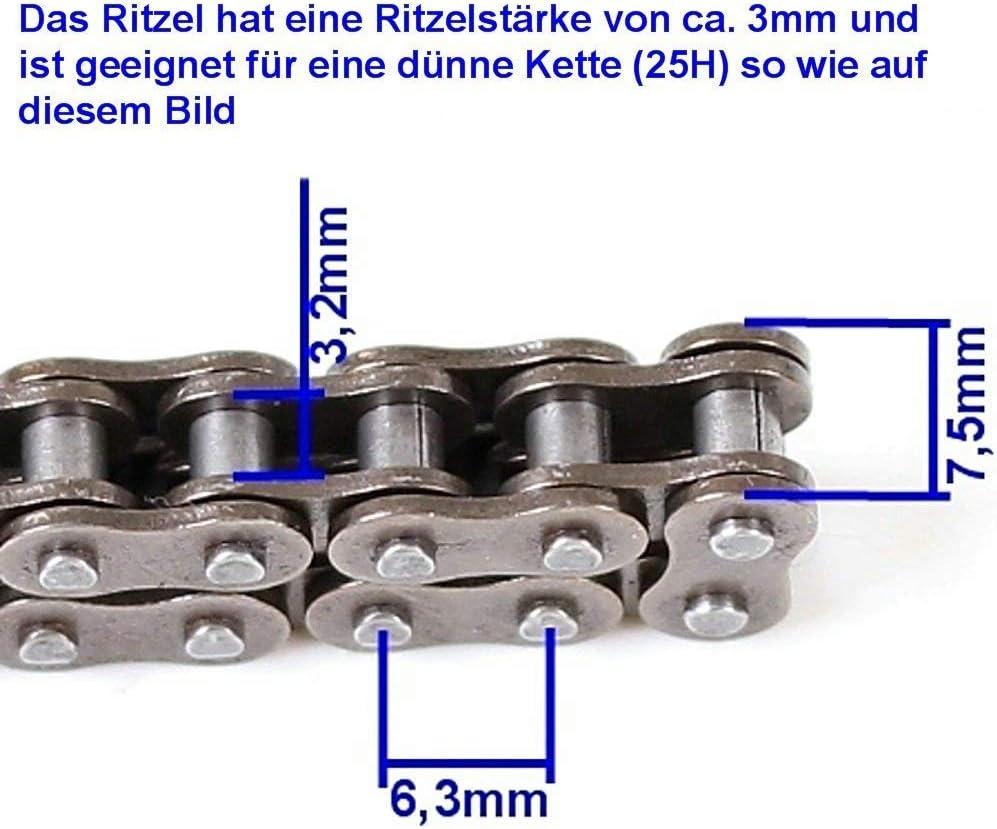 Mach1 11 Er Ritzel Für Dünne 25h Kette Für 500 Bis 1000 Watt Elektro E Scooter Sport Freizeit