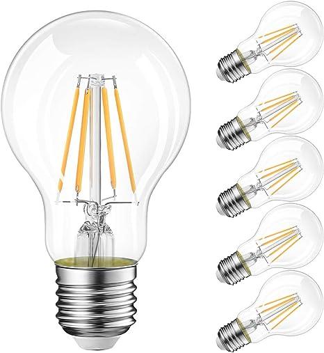 LED 4 Watt E27 Glas Energie Spar Leuchtmittel Filament DIMMBAR 350 Lumen WOFI